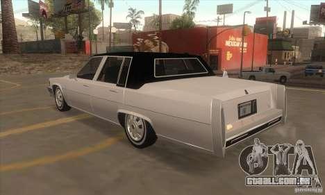 GTA IV Emperor para GTA San Andreas traseira esquerda vista