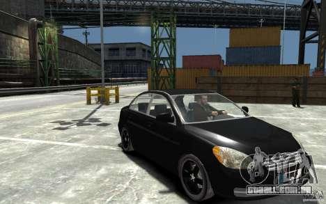Hyundai Accent 2006 para GTA 4 vista de volta