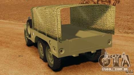 Dodge WC-62 3 Truck para GTA 4 traseira esquerda vista
