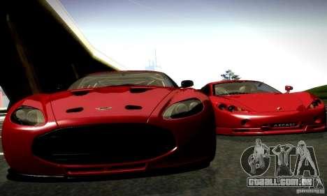 Aston Martin V12 Zagato Final para GTA San Andreas traseira esquerda vista