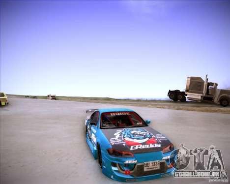 Nissan Silvia S15 Blue Tiger para GTA San Andreas vista traseira