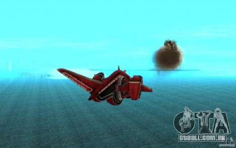 MOSKIT air Command and Conquer 3 para GTA San Andreas vista traseira