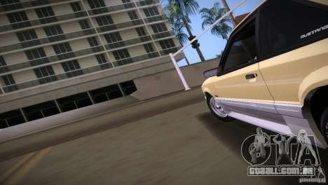 Ford Mustang GT 1993 para GTA Vice City vista traseira esquerda