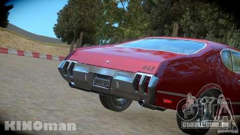 Oldsmobile 442 para GTA 4 vista direita