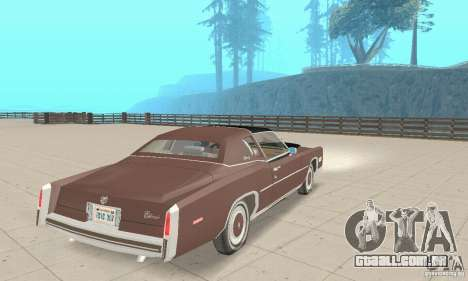 Cadillac Eldorado Biarritz 1978 para GTA San Andreas esquerda vista