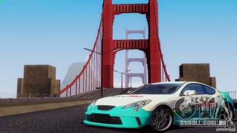 Hyundai Genesis Tunable para GTA San Andreas vista inferior