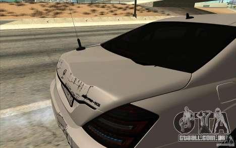 Mercedes-Benz S65 AMG com luzes piscando para GTA San Andreas vista traseira