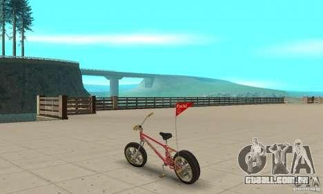 BMX Long 2 New Wheel para GTA San Andreas traseira esquerda vista