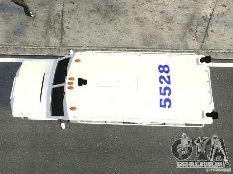 Lenco Bearcat NYPD ESU V.2 para GTA 4 vista de volta