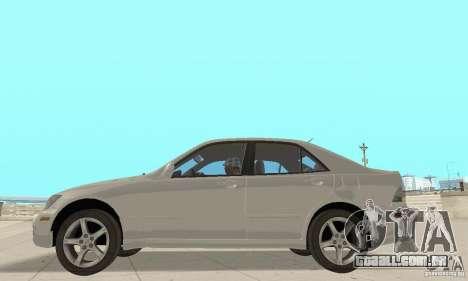 Lexus IS300 Stock para GTA San Andreas vista direita