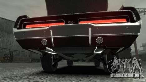 Dodge Charger RT 1969 Tun para GTA 4 vista interior