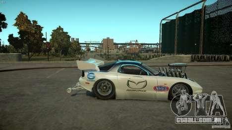 Mazda rx7 Dragster para GTA 4 vista de volta