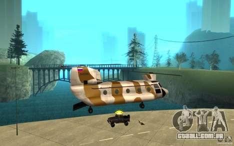 GTA SA Chinook Mod para GTA San Andreas interior
