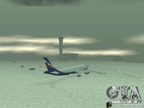 O Airbus A330-300 Aeroflot para GTA San Andreas vista traseira