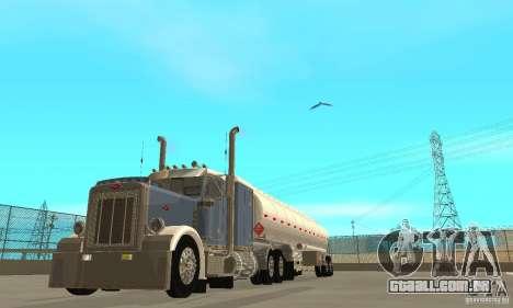 Peterbilt 379 Custom And Tanker Trailer para GTA San Andreas vista interior