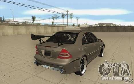 Mercedes-Benz C32 AMG Tuning para vista lateral GTA San Andreas