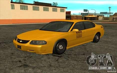 Chevrolet Impala Taxi 2003 para GTA San Andreas