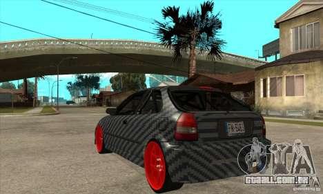 Honda Civic Carbon Latvian Skin para GTA San Andreas vista direita
