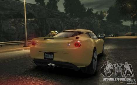 Lotus Evora 2009 para GTA 4 vista direita