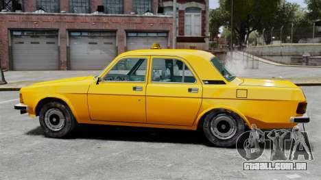 Táxi de gaz-3102 para GTA 4 esquerda vista