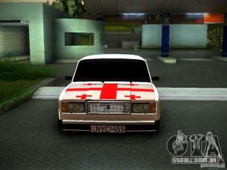 Geórgia 2107 VAZ para GTA San Andreas traseira esquerda vista