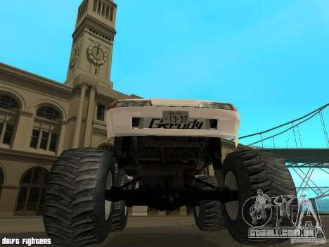 Elegy Monster para GTA San Andreas vista interior