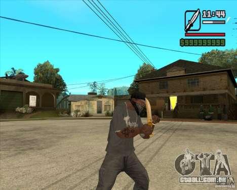 Faca do Príncipe para GTA San Andreas terceira tela