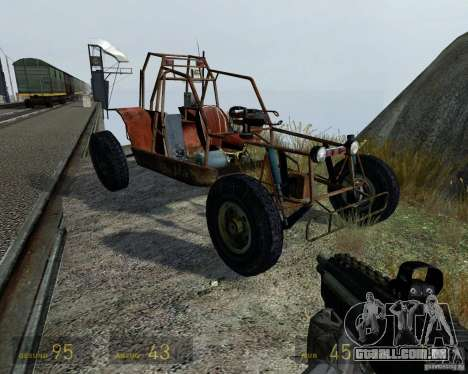 Half Life 2 buggy para GTA 4 vista lateral