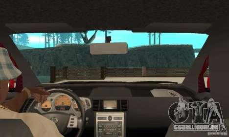 Nissan Murano 2004 para GTA San Andreas vista direita