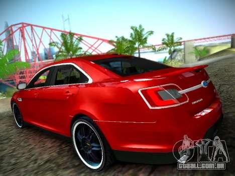 Ford Taurus SHO 2011 para GTA San Andreas esquerda vista