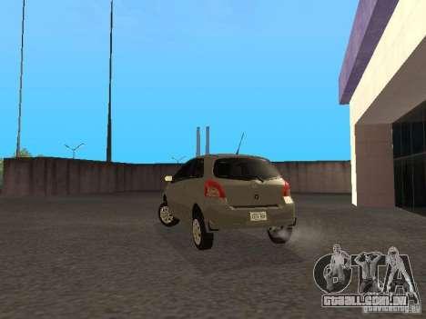 Toyota Yaris Sport 2008 para GTA San Andreas traseira esquerda vista