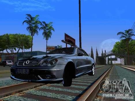 Mercedes-Benz CLK55 AMG para GTA San Andreas traseira esquerda vista