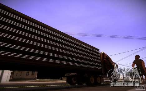 Box Trailer para GTA San Andreas traseira esquerda vista
