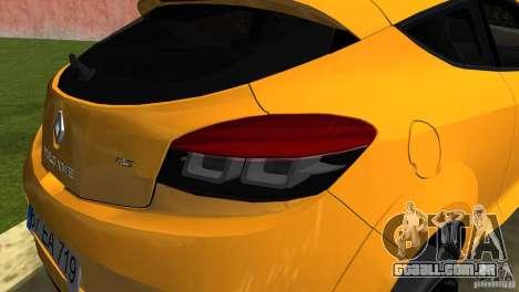 Renault Megane 3 Sport para GTA Vice City vista direita