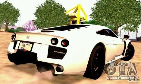 Noble M600 para GTA San Andreas vista traseira