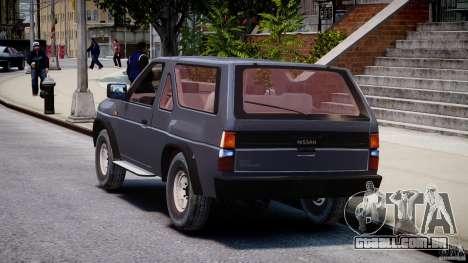 Nissan Terrano para GTA 4 traseira esquerda vista