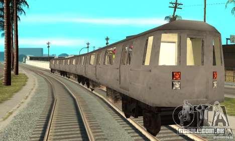 Liberty City Train GTA3 para GTA San Andreas traseira esquerda vista