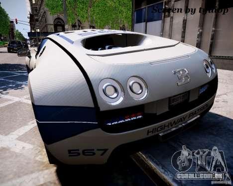 Bugatti Veryon SS COP para GTA 4 esquerda vista
