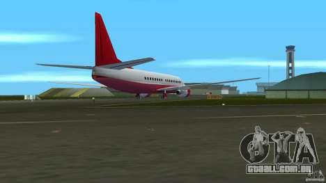 Boeing 737 para GTA Vice City vista traseira esquerda