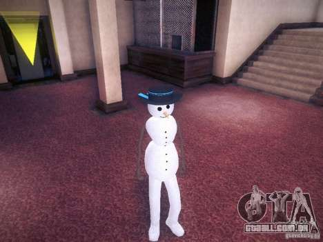 Boneco de neve para GTA San Andreas