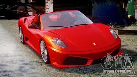 Ferrari F430 Scuderia Spider para GTA 4 vista interior
