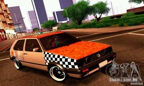Volkswagen MK II GTI Rat Style Edition para GTA San Andreas esquerda vista