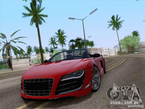 Audi R8 GT Spyder para GTA San Andreas