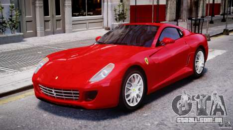 Ferrari 599 GTB Fiorano para GTA 4 esquerda vista