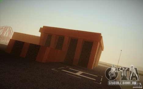 New SF Army Base v1.0 para GTA San Andreas por diante tela