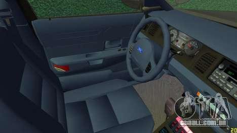 Ford Crown Victoria Police 2003 para GTA Vice City vista direita