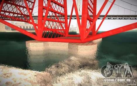 HD Red Bridge para GTA San Andreas por diante tela