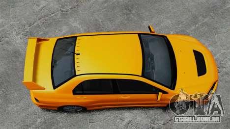 Mitsubishi Lancer Evolution IX MR para GTA 4 vista direita