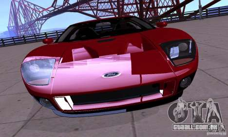 Ford GT 2005 para GTA San Andreas vista direita