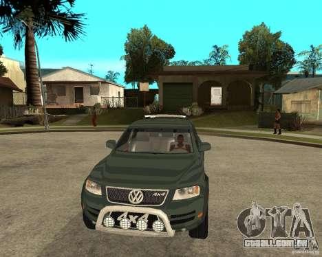 Volkswagen Touareg V10TDI 4x4 para GTA San Andreas vista traseira